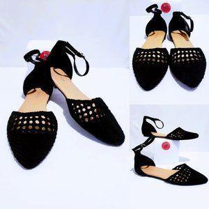 Shoes - Torrid Faux Suede ankle buckle Flats 11W🐝💋